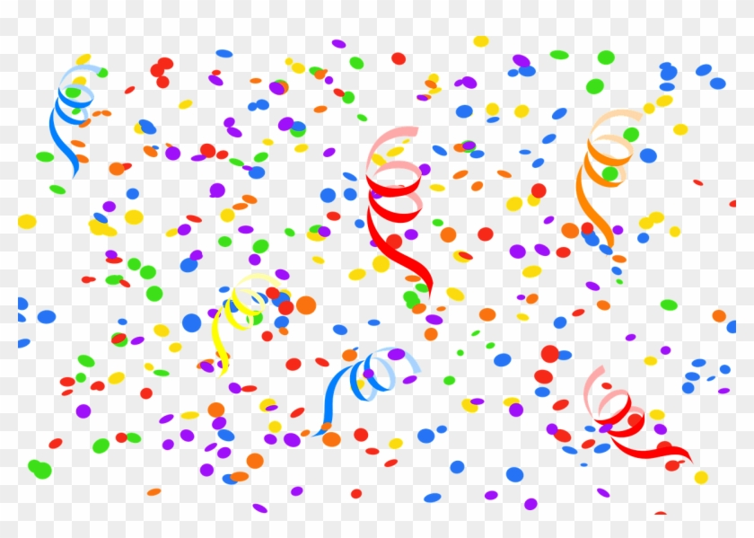 Confetti - Calligraphy Colorful Happy Birthday Clipart #389167