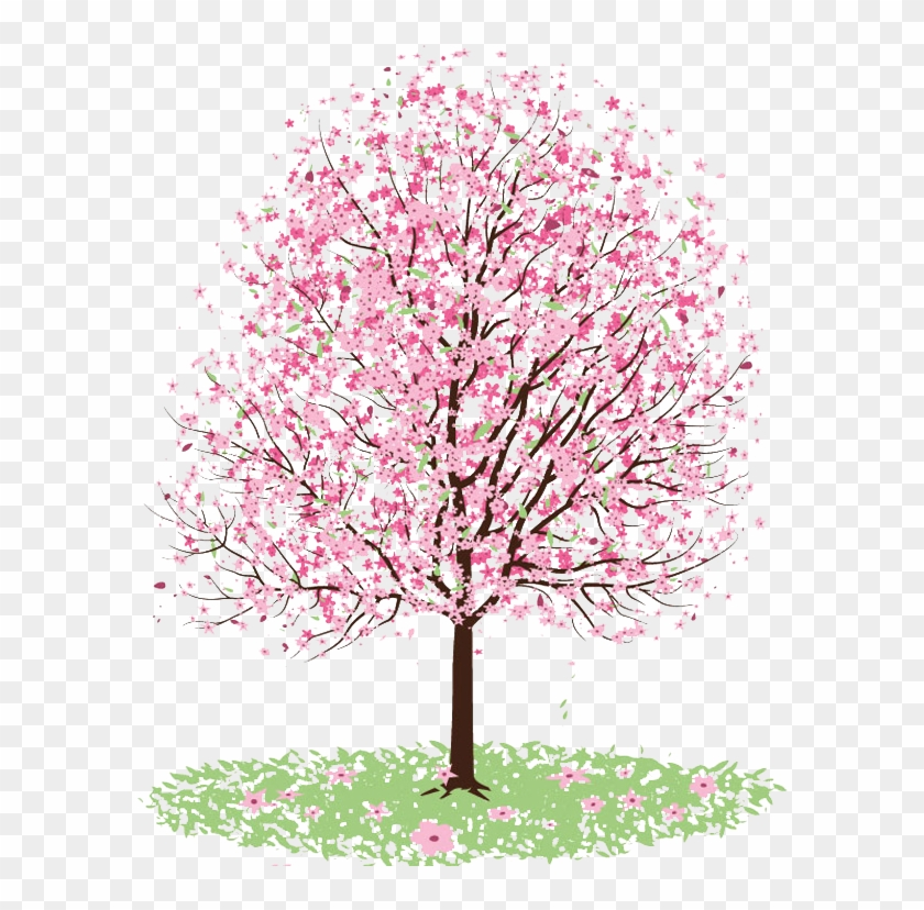 Cherry Blossom Clipart Transparent Tumblr - Japanese Cherry Blossom Tree Png #389571