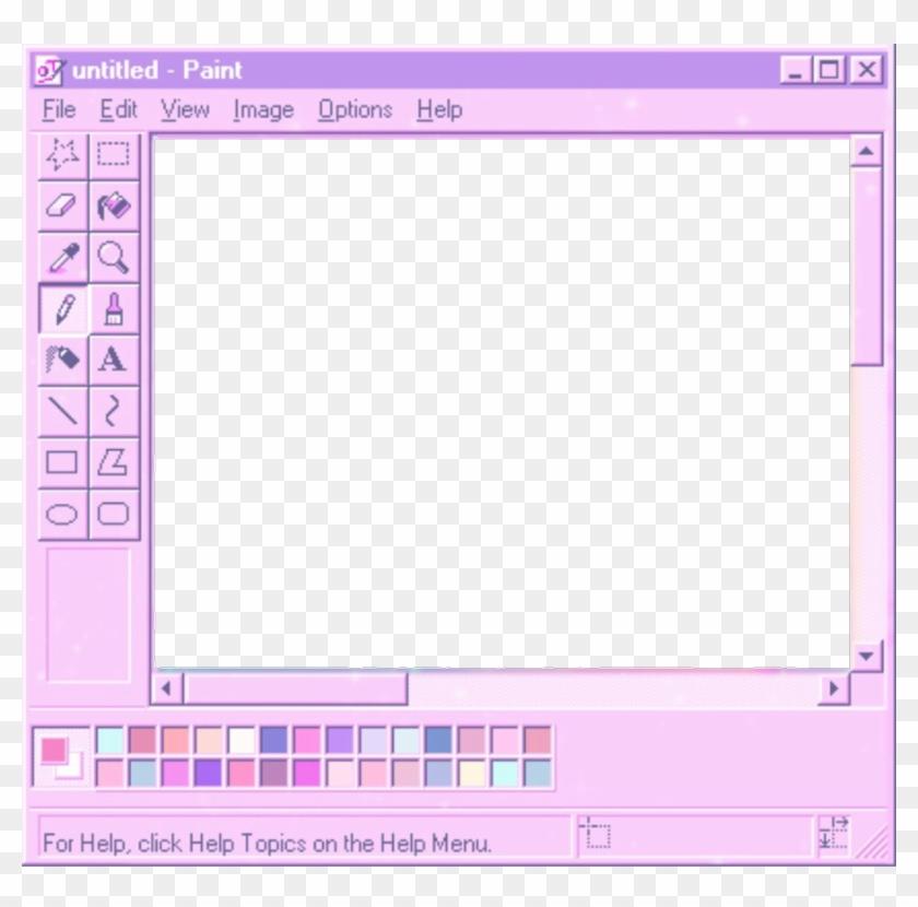 Transparent Background Microsoft Paint - Ms Paint Aesthetic Transparent  Clipart (#3800307) - PikPng
