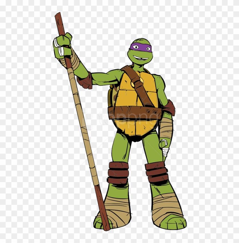 Free Png Download Ninja Tutle Donatello Clipart Png Teenage Mutant Ninja Turtles Donatello Cartoon Transparent Png 3800735 Pikpng