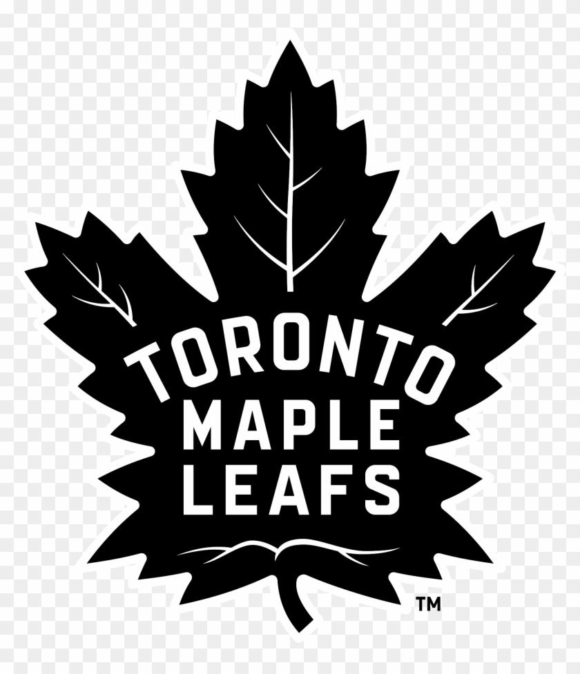 Toronto Maple Leafs Logo Black White Transparent Logo Toronto Maple Leafs Clipart 3810905 Pikpng