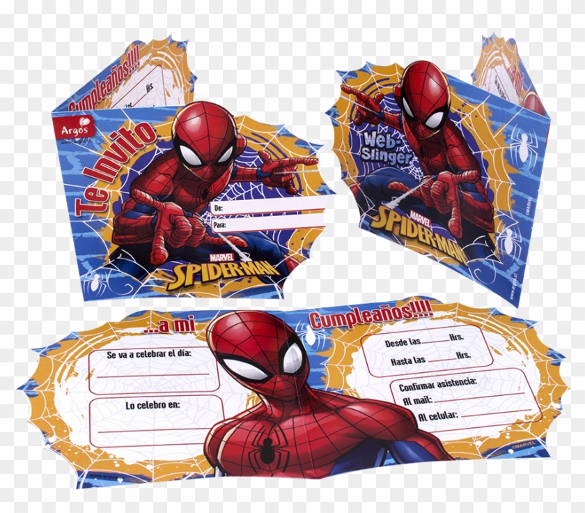 Tarjeta Invitación Spiderman Tarjetas De Invitacion De