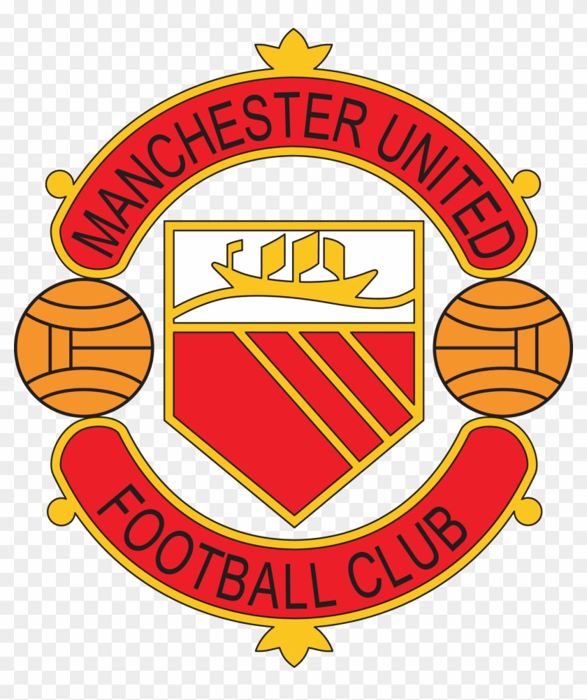 Manchester United Badge 1960s 1973png Wikipedia Manchester United Old Logo Clipart 3818170 Pikpng