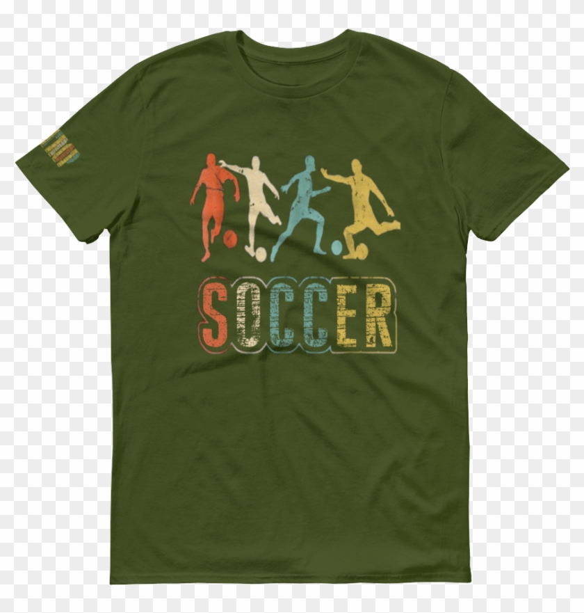 """""""vintage Soccer"""" """"bastrop"""" Printed On Right Arm Unisex - Active Shirt Clipart #3832150"""