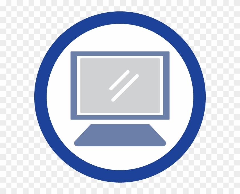 Summer School - Computer Skills Icon Blue Clipart #3839200