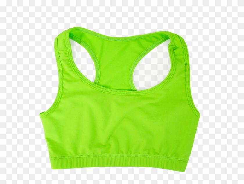 Sports Bra - Neon Green Sports Bra Clipart #3839330