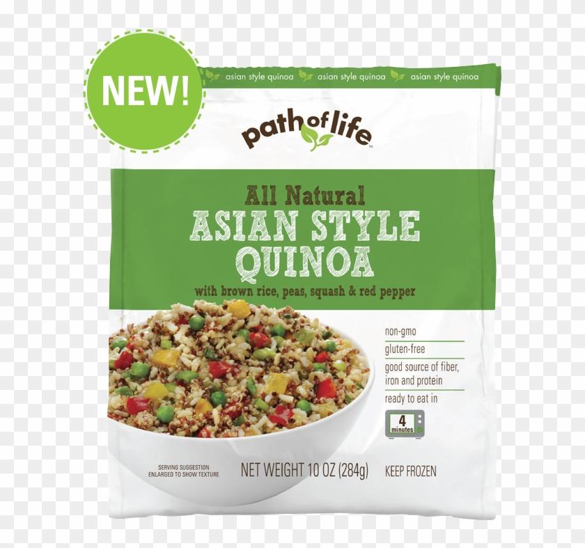 Asian Style Quinoa With Brown Rice, Peas, Squash & - Quinoa Frozen Meals Clipart #3841668