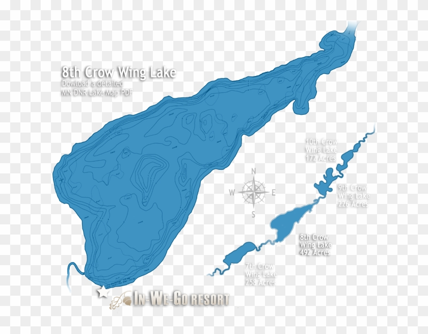 8th Crow Wing Lake Map Clipart #3844185