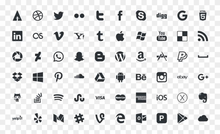 Social Media Icons Free Download - Logo Social Media Vector Png Clipart #3844684