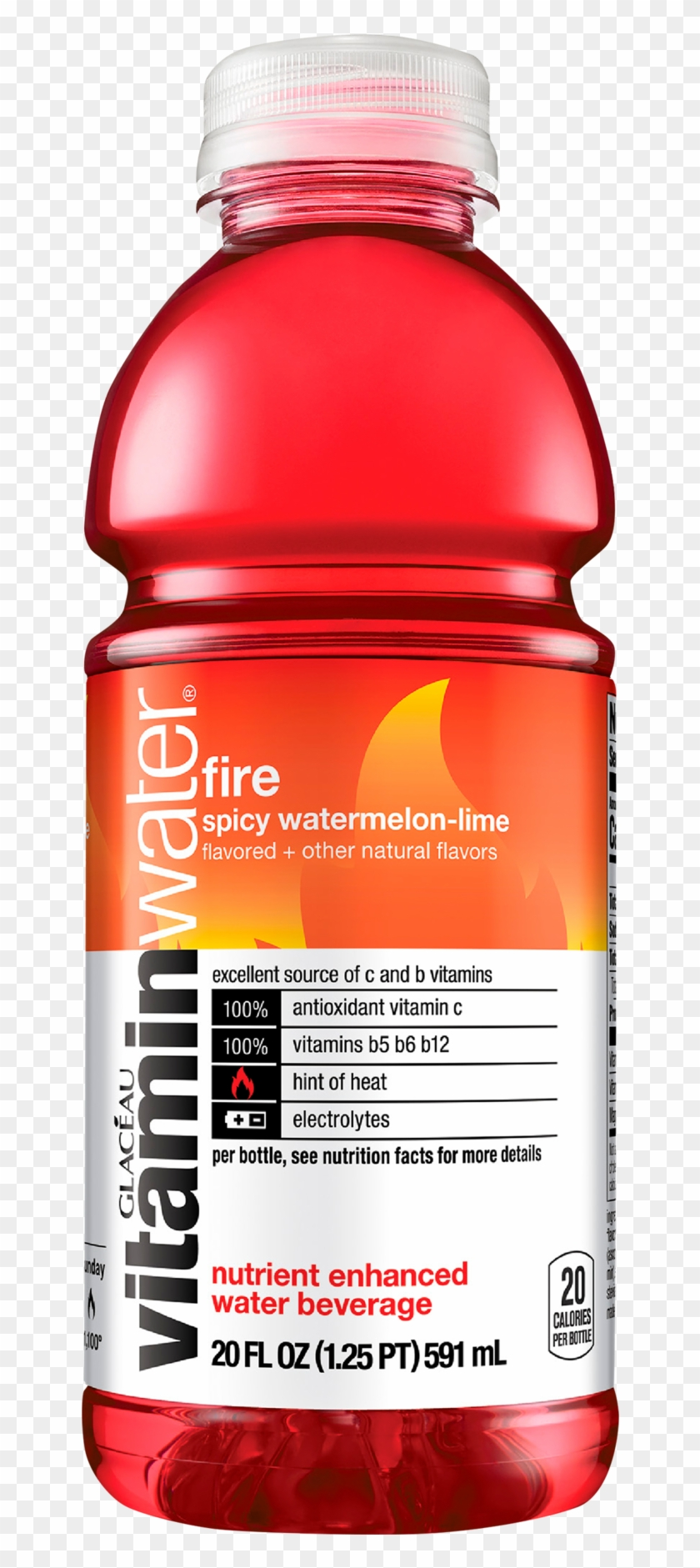 Vitaminwater Glaceau Fire-ko 20 Fl Oz Pl Bt Prop, - Vitamin Water Fire And Ice Clipart #3866050