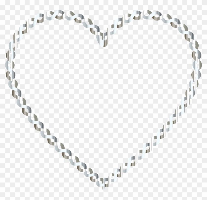 White Heart Clipart No Background - White Heart Clipart With No Background - Png Download #3870009