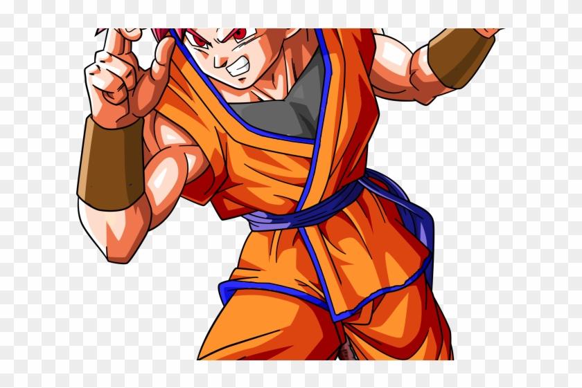 Goku Clipart Super Saiyan God - Goku Super Saiyan God Png Transparent Png #3877358