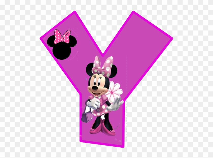 Minnie Free Alphabet In Purple - Minnie Mouse Alphabet Letters Y Clipart #3877539