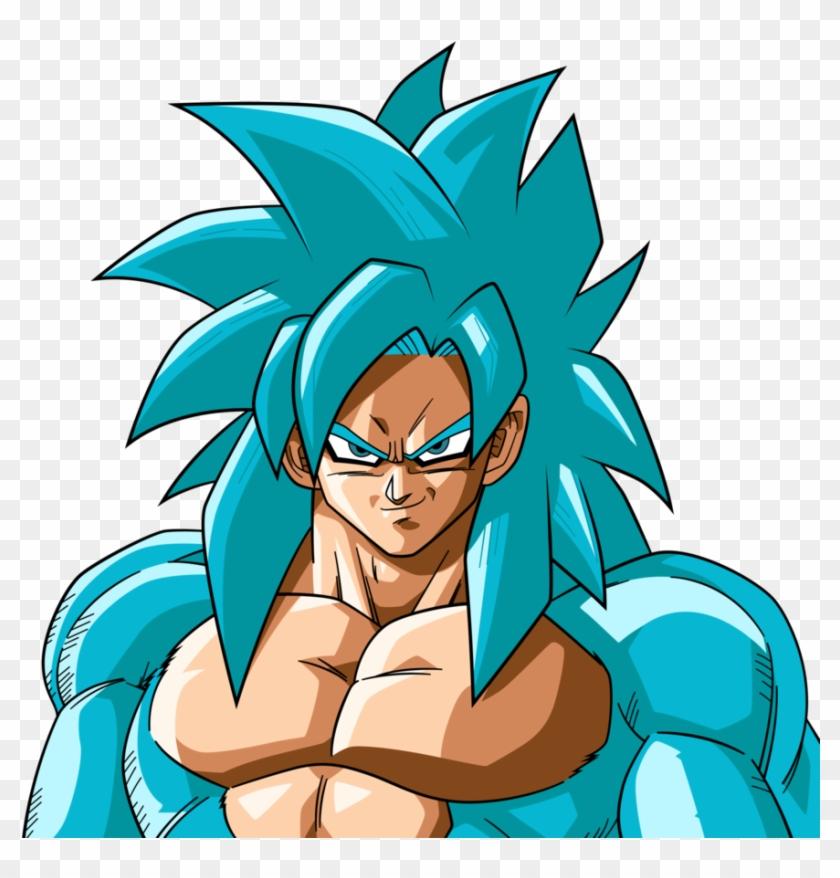 Goku Clipart Ssj4 - Goku Ssj Blue 4 - Png Download #3886117
