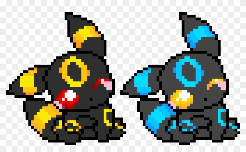 Shiny Normal Umbreon Pixel Art Pokemon Shiny Hd Png