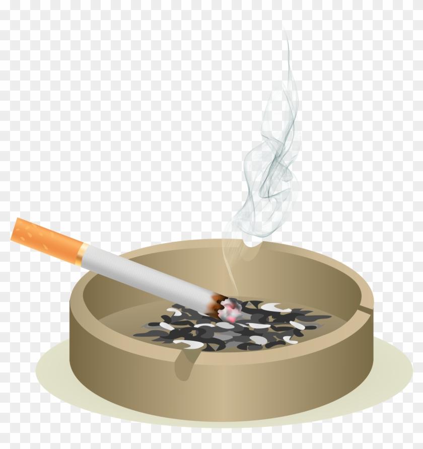 Euclidean Vector Ashtray Cigarette Icon - Stop Smoking Before Smoking Stops You Clipart #3887961