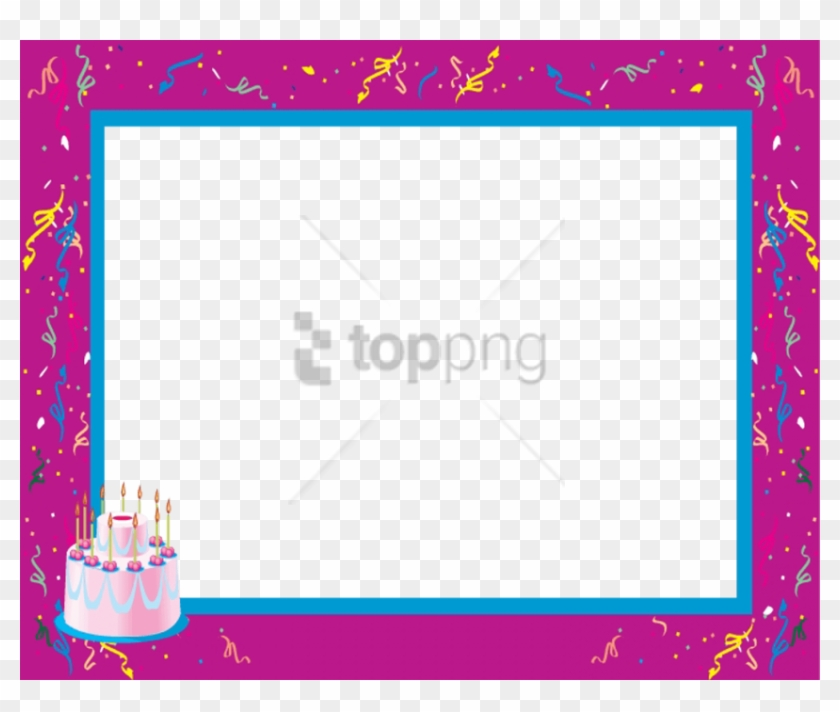 Free Png Borders And Frames For Kids Png Png Image - Birthday Clipart #3894427