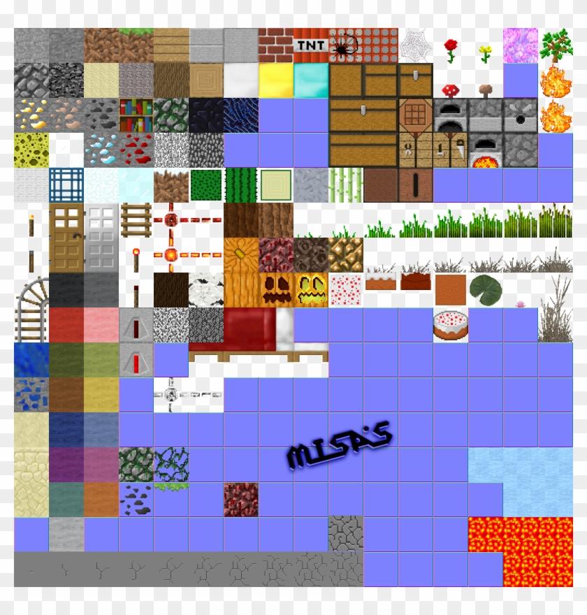Show You The Terrain - Minecraft Block Sprite Sheet Clipart #3898189