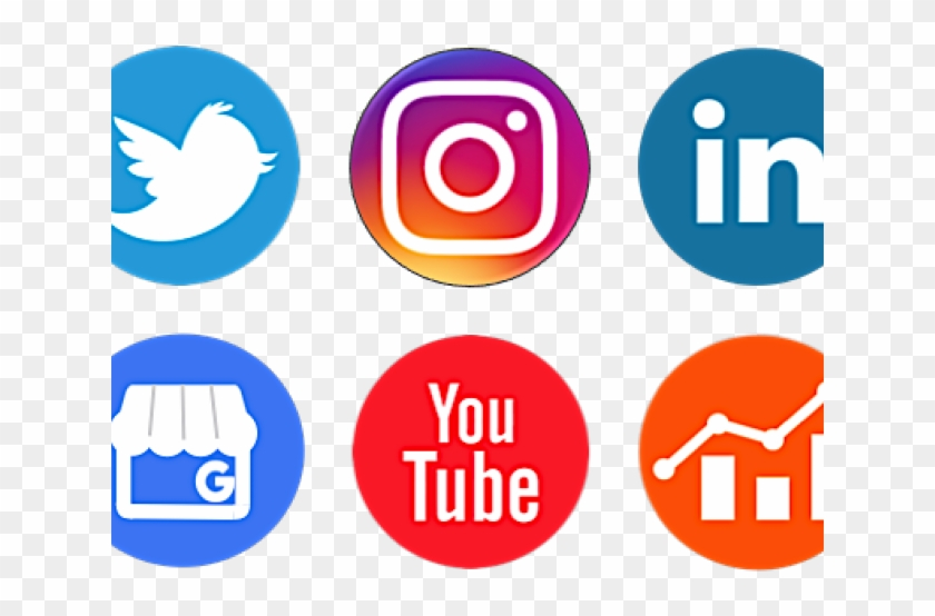 Social Media Icons Clipart Social Platform - Logos Transparent Social Media Icons Png #3899115