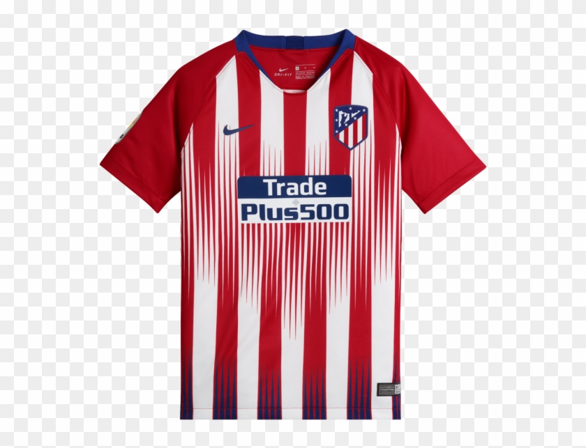 Official Atletico Madrid 2018 19 Jersey Atletico Madrid Home Kit 18 19 Clipart 3899842 Pikpng