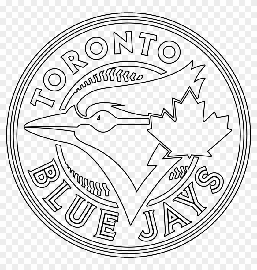 Toronto Blue Jays Logo Coloring Page Stencil Outline Blue
