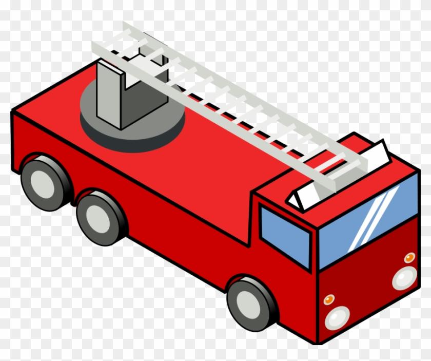 Flame Clipart Emoji - Fire Truck Clip Art - Png Download #398425