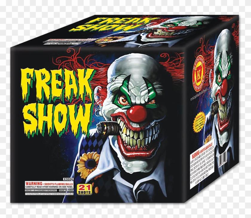 Freak Show - Scary Clown Smoking A Cigarette Clipart #3903120