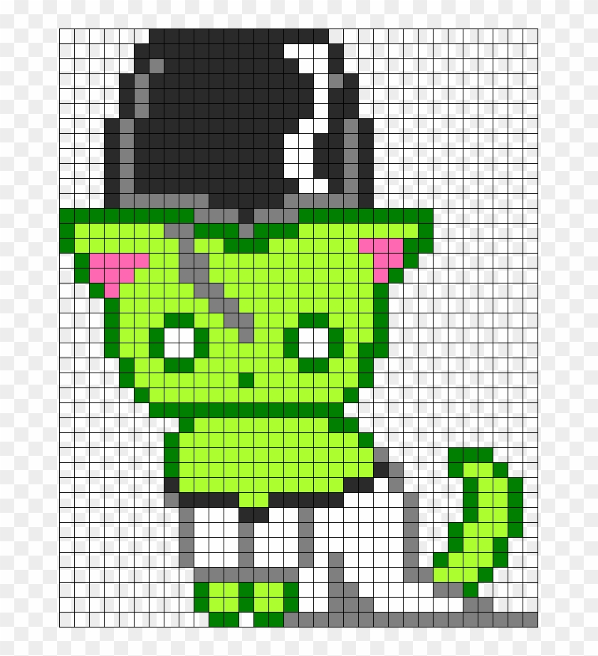 Bride Of Frankenstein Kitty Perler Bead Pattern Bead