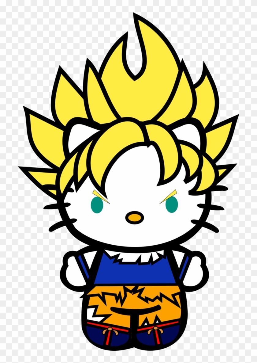 Hello Vegeta, Hello Super Saiyan Vegeta, Hello - Hello Kitty Colour Clipart #3908305