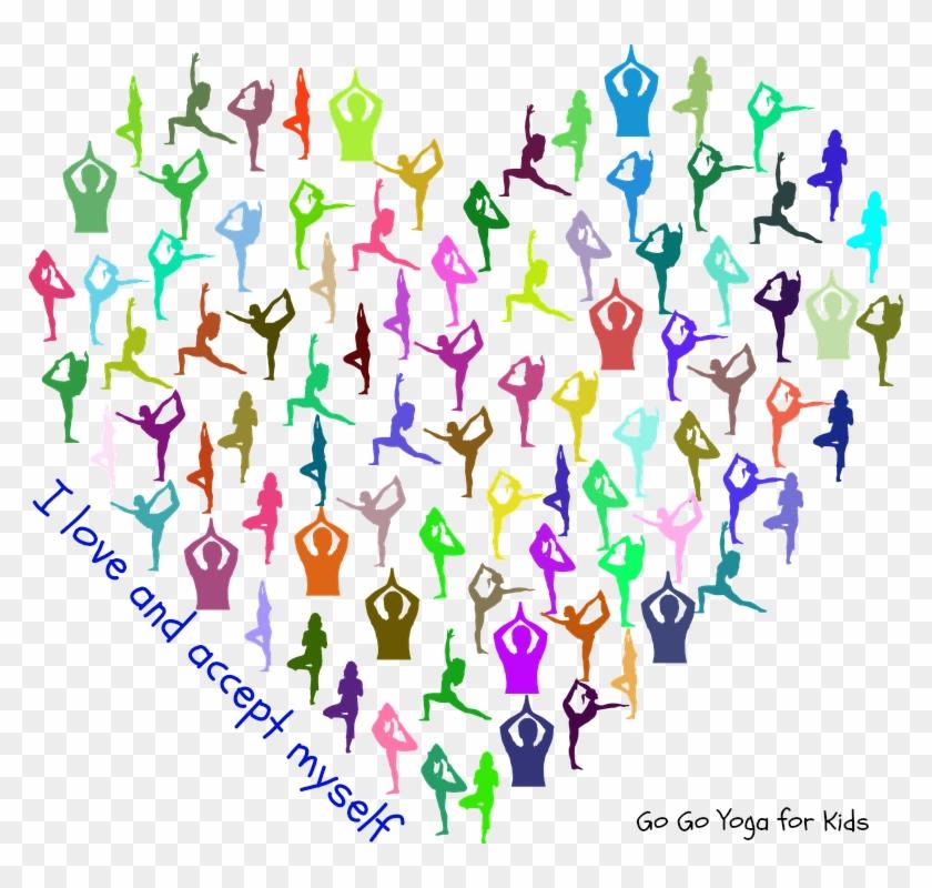 Get Your Free Kids Yoga Heart Mandala - Happy Valentines Day Yoga Clipart #3908581