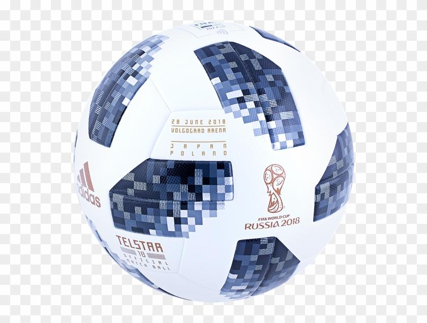Adidas Telstar 18 World Cup Official Match Soccer Ball - Official Soccer Ball World Cup 2018 Clipart #3919558