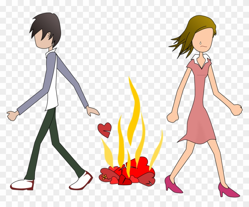 Cute Sad Couple Hd Wallpaper Cartoon For Free Download Breakup