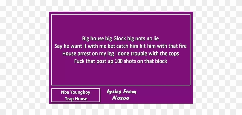 Nba Youngboy - Trap House - Parallel Clipart #3928847