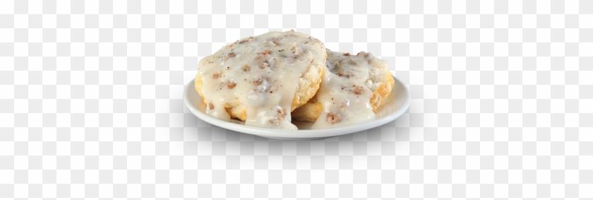 Biscuit-gravy - Bojangles Gravy Biscuit Clipart #3933327