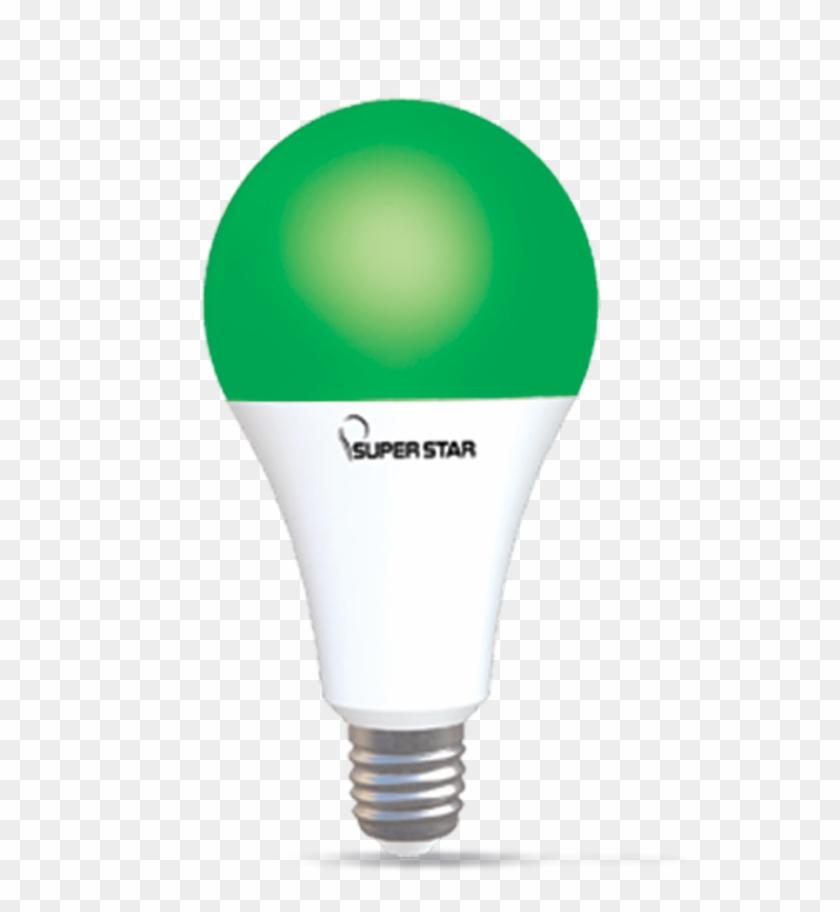 Ac Color Led 9w Green E27 - Incandescent Light Bulb Clipart #3936983