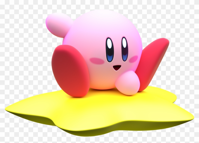 A Classic Kirby Video Trifecta - Kirby Riding Warp Star Clipart #3942392