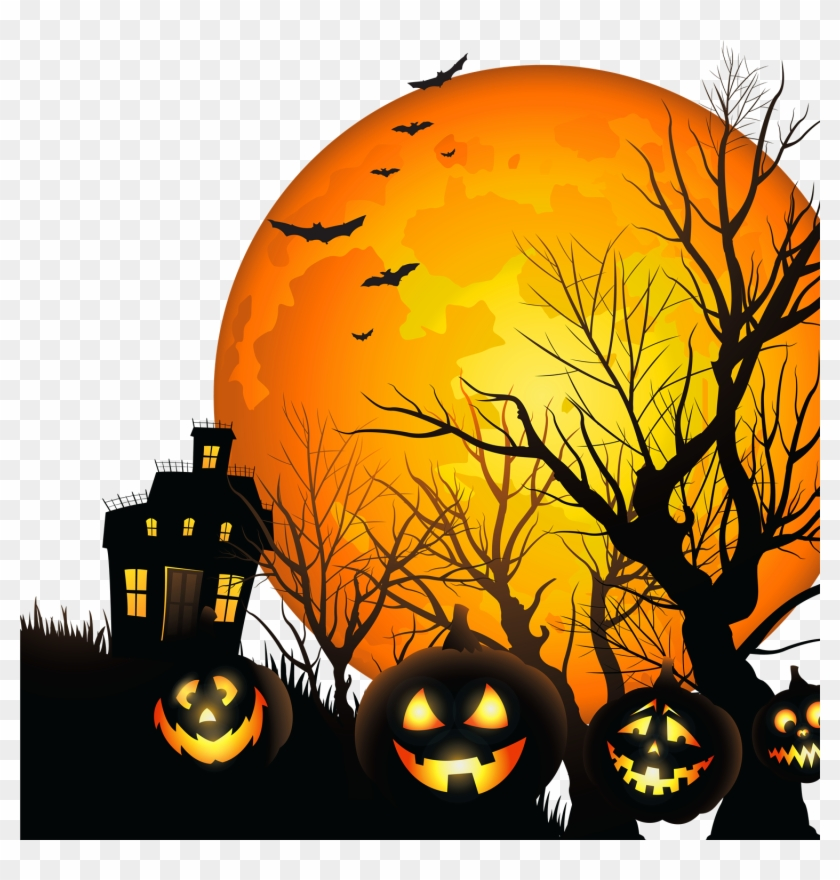 Commander's House Adult And Senior Center - Haunted House Flyer Background Clipart #3949931