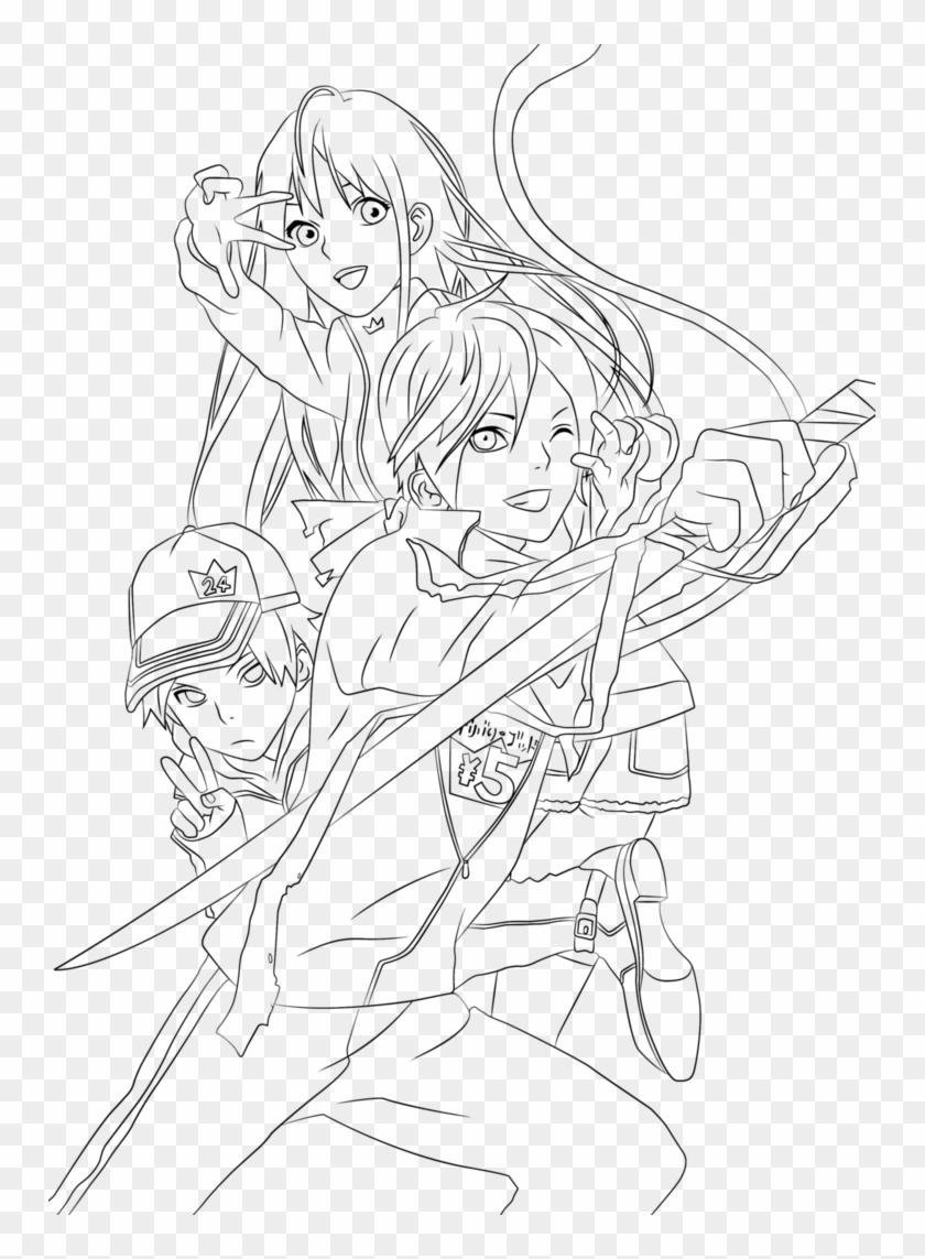 Anime Sheets Noragami - Manga Adult Coloring Page, HD Png ...