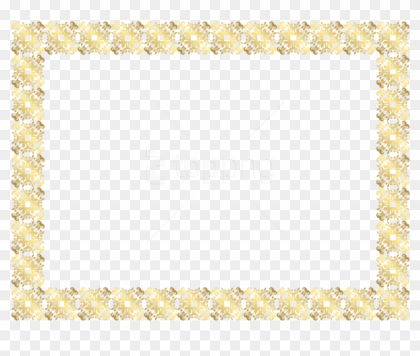 Gold Border Frames Format Png With Roses Free Psd Files - Motif Clipart #3965685