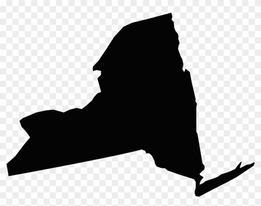 Clip Transparent Biggie Drawing Silhouette - New York State Icon Vector - Png Download #3971374