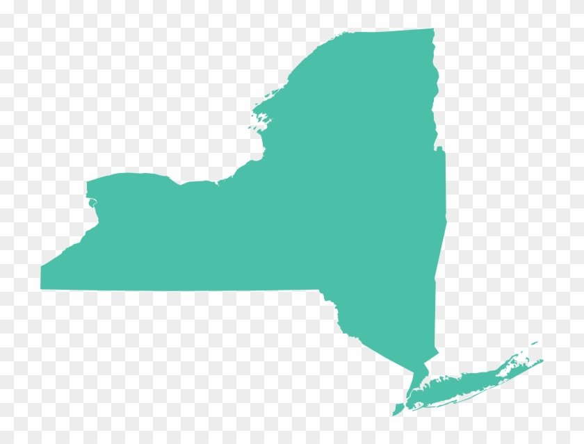 New York Map - New York The State Clipart #3971614