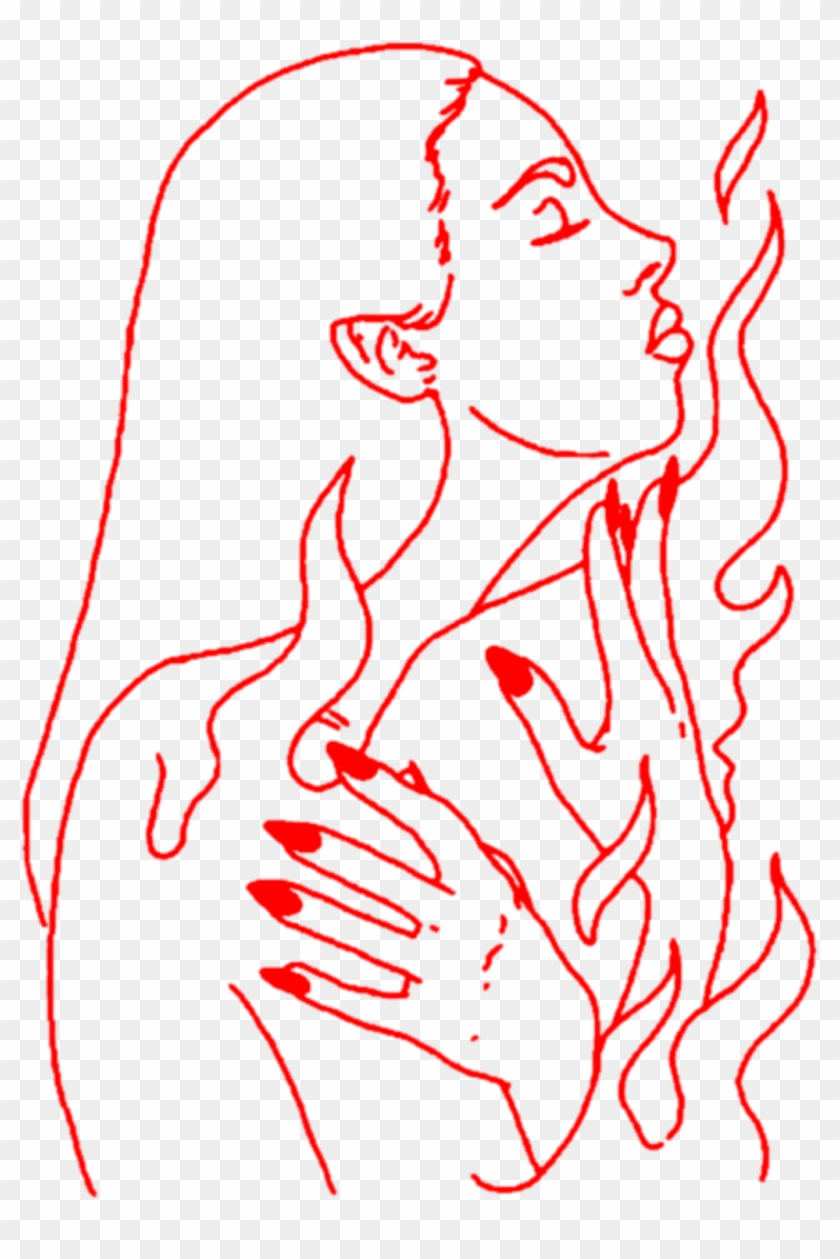 Aesthetic Art Girl Woman Lineart Outline Red Hand Hands Transparent Aesthetic Line Art Png Clipart 3976339 Pikpng Find & download free graphic resources for hands. aesthetic art girl woman lineart