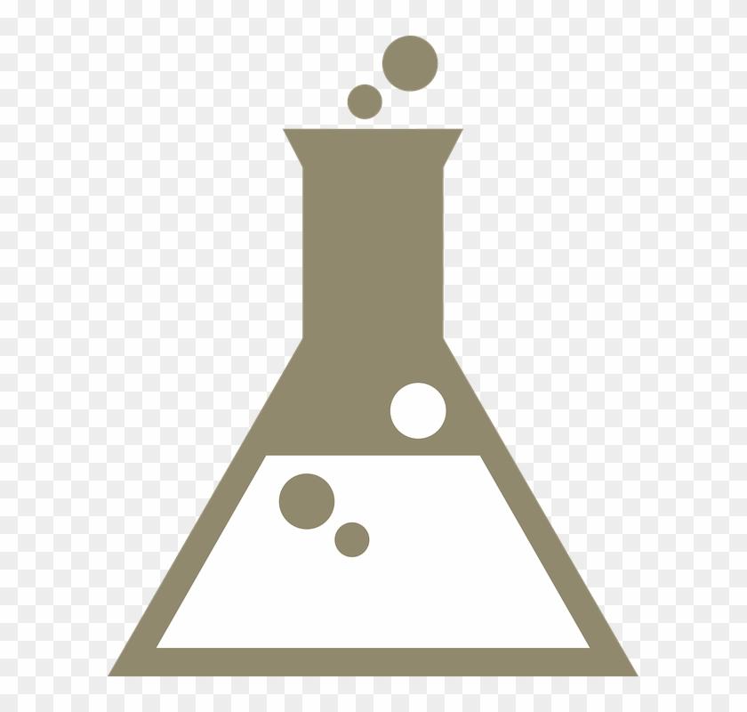 Beaker, Bubbles, Chemistry, Reaction - Chemistry Beaker Vector Clipart #3976917