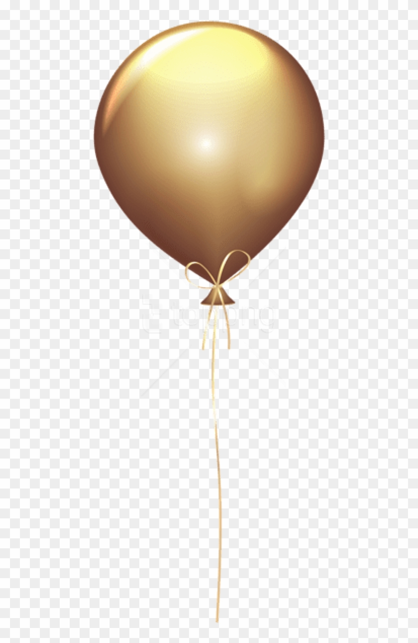 Golden Balloons Png - Gold Balloon Clip Art, Transparent Png #3979262