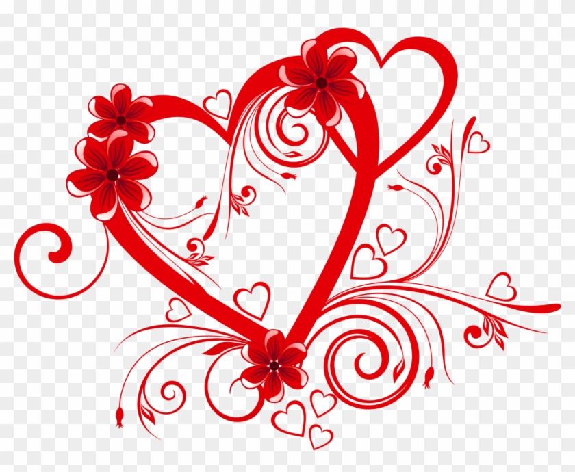 Clip Free Library Designs Transparent Love - Heart Pic With Flower - Png Download #40802