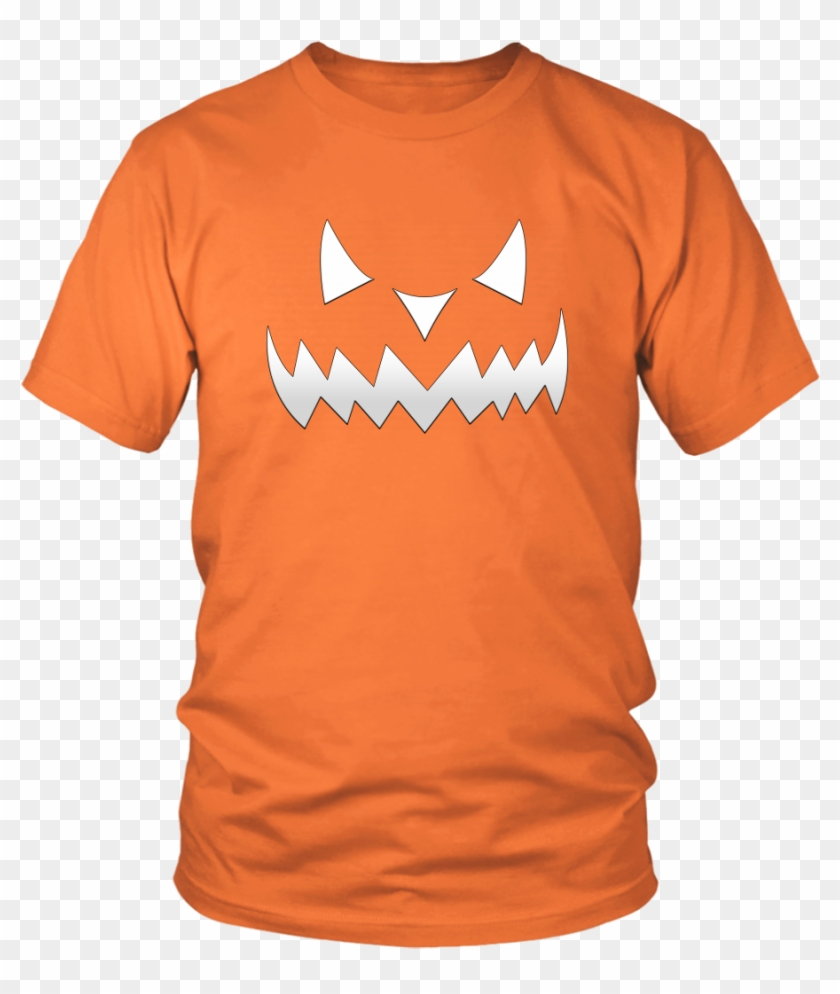 Scary Evil Pumpkin Face Halloween T Shirt For Men & - All I Want For Christmas Is A New President Clipart #41817
