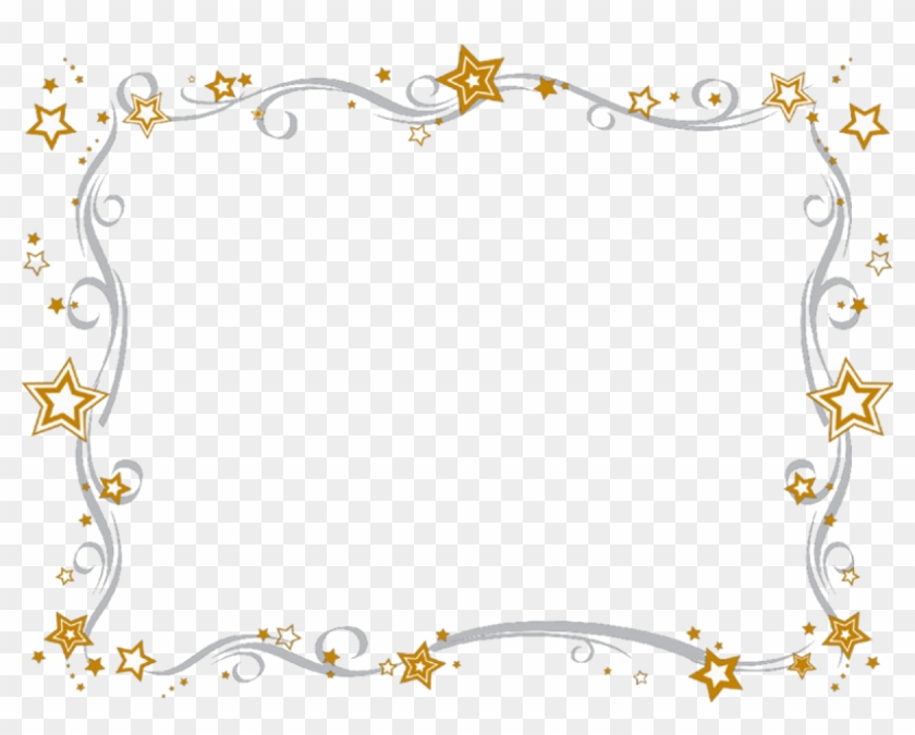 Stars Bling Cliparts - New Year Clipart Border - Png Download #43095