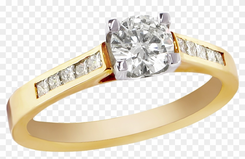 Share This Article - Gold Diamond Ring Png Clipart #43407