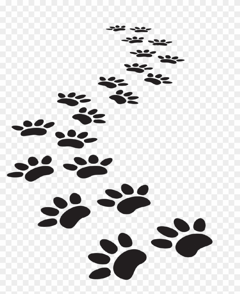 Dog Paw Prints Animal Free Black White Clipart Images - Paw - Free  Transparent PNG Clipart Images Download