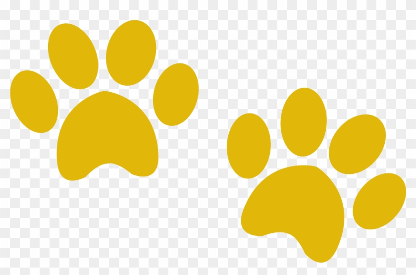 All Our Cottages Are Very Close To Dog Friendly Pubs - Yellow Paw Prints Png Clipart #45480